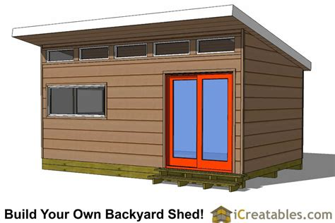 18 X 24 Shed Roof Studio Plans 16x12