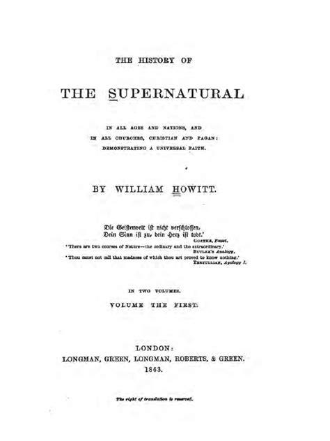 1863 Howitt History Of The Supernatural  Miracle  Oracle.