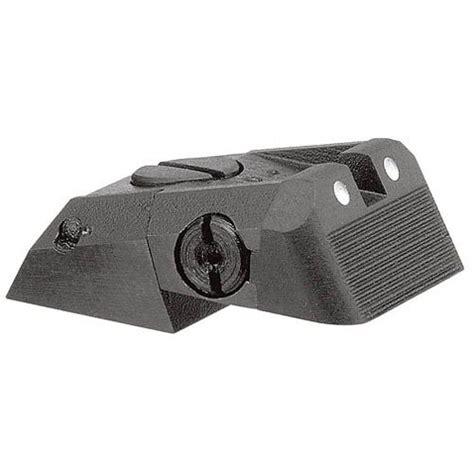 1911 Adjustable Defensive White Dot Rear Sight Low Mount