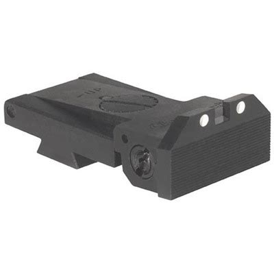 1911 Classic Target Adjustable White Dot Rear Sights