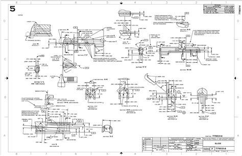 1911 Colt Slide Blueprint