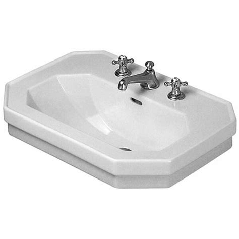 "1930 Series Ceramic 24"" Wall Mount Bathroom Sink with Overflow"