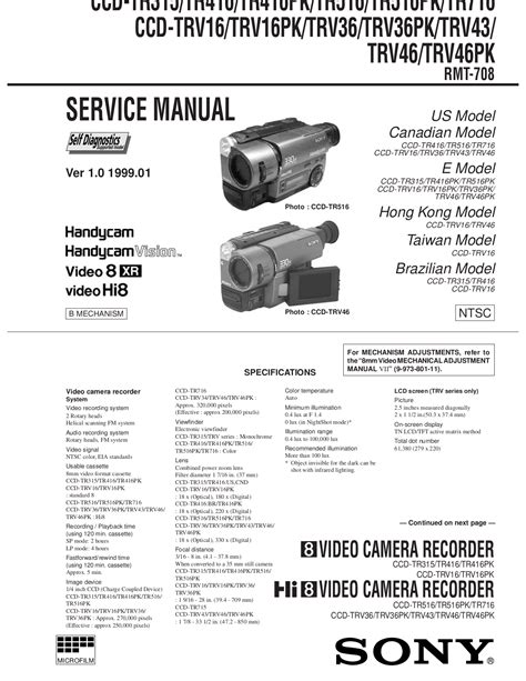 1998 sony camcorders pdf manual
