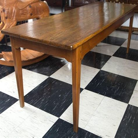 19th-Century-French-Elm-Farm-Table