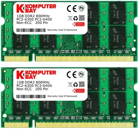 1GB 800MHz DDR2 PC2-6400 Electronics Computer Networking