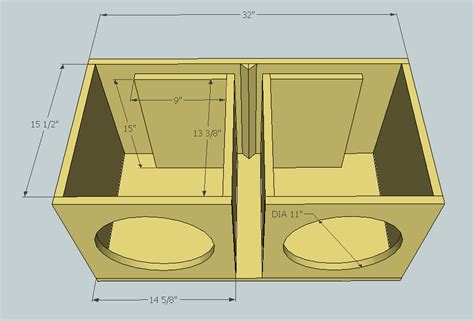 2 12 Speaker Box Plans