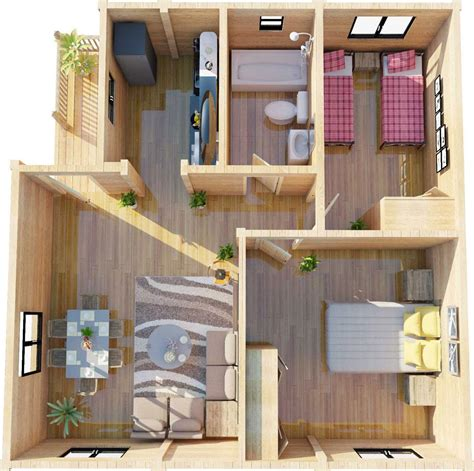 2 Bed Granny Annex Plans