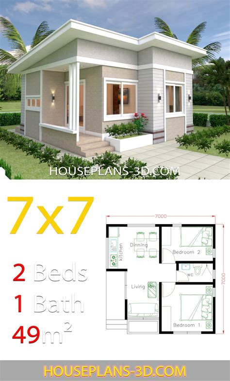 2 Bed Room Tiny House Floor Plans Free