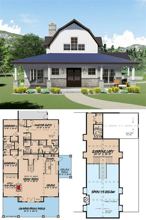 2 Bedroom Barn House Plans