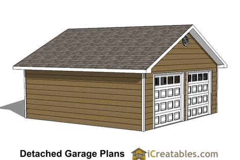 2 Car Garage Floor Plans 24x24