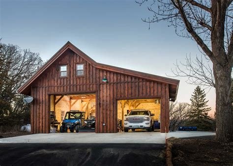 2 Car Pole Barn Garage Plans