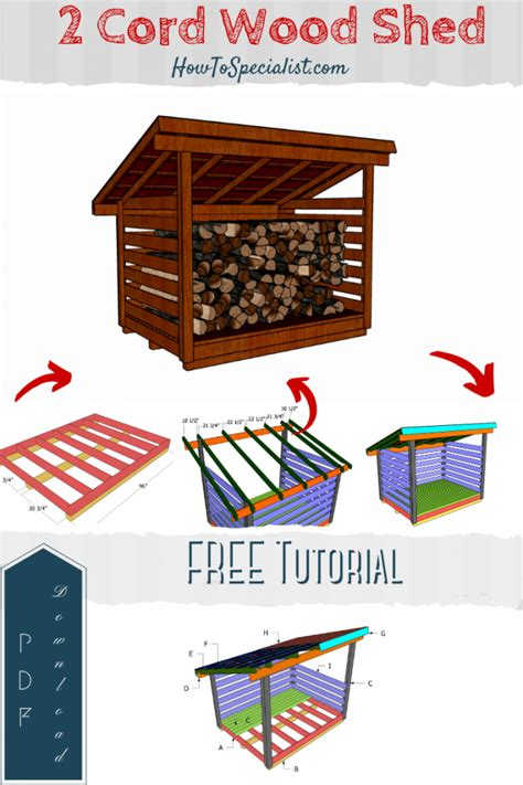 2 Cord Firewood Shed Plans PDF