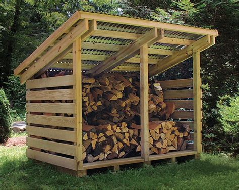 2 Cord Firewood Storage Shed Plans