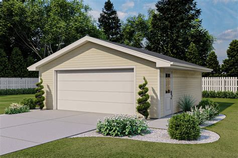 2 Door Garage With Workshop Plans