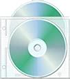 2 Hole Top Load CD/DVD Page, 5.625' x 5', 3.13' hole spacing - Box of 800