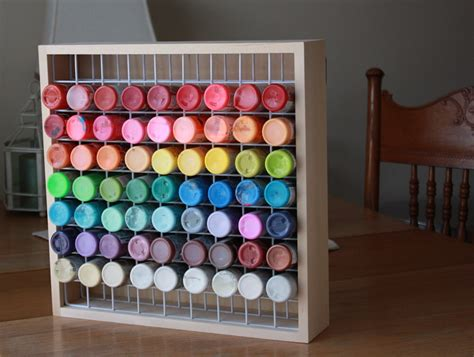 2 Oz Paint Bottle Storage Diy Bedroom