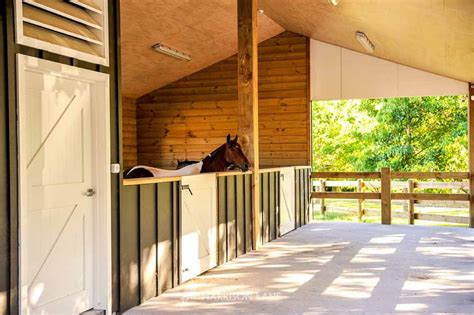 2 Stall Barn Plans With Tack Room Organization