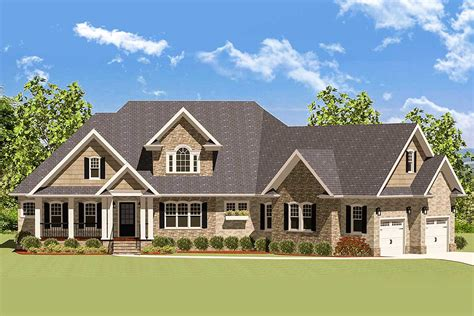 2 Story Angled Garage House Plans