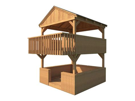 2 Story Kids Fort Plans