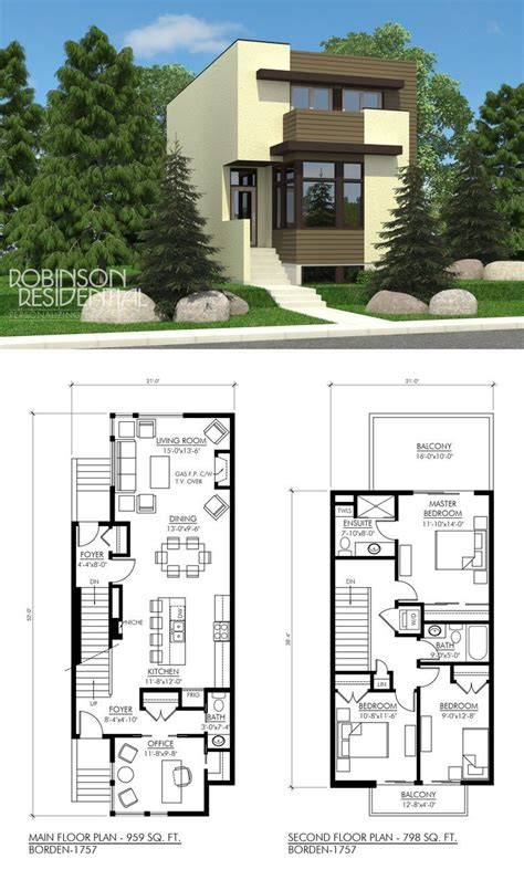 2 Story Tiny Home Floor Plans