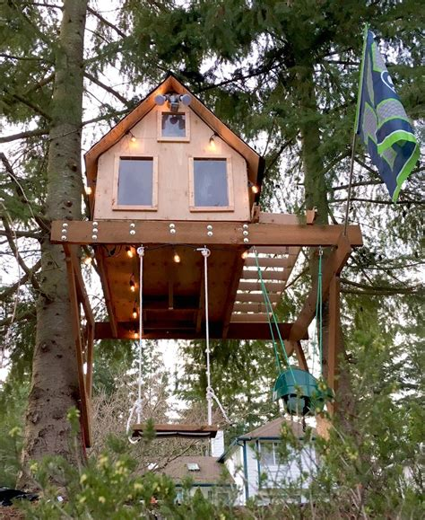 2 Tree Treehouse Plans