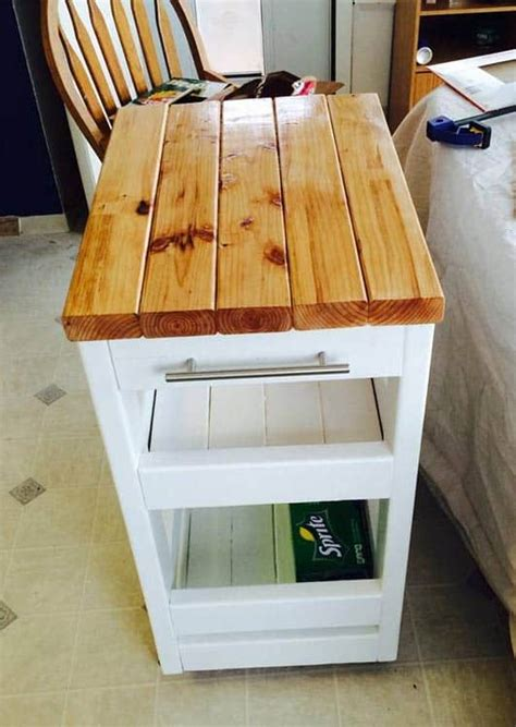 2 X 4 Diy Kitchen Cart Projects