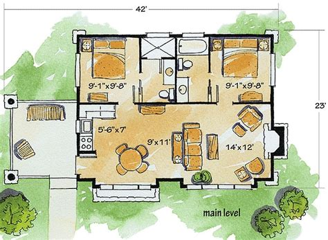 2 bedroom 2 bath log cabin plans