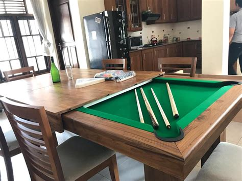 2 in 1 pool table dining table