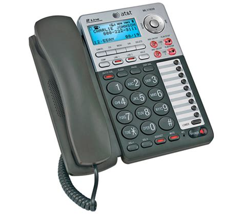 2 line corded phone with intercom pdf manual