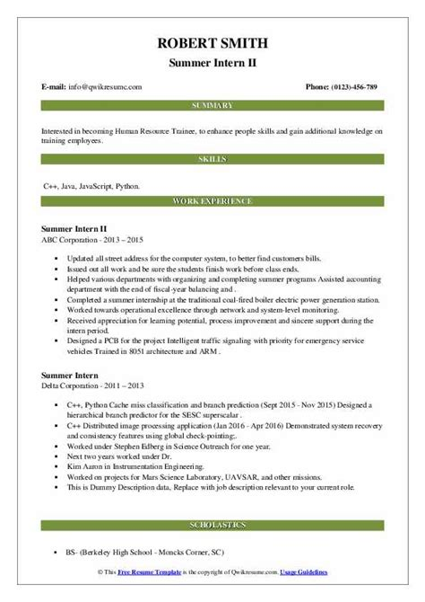 Cv Format For Training Purpose Resume Cover Letter Via Email