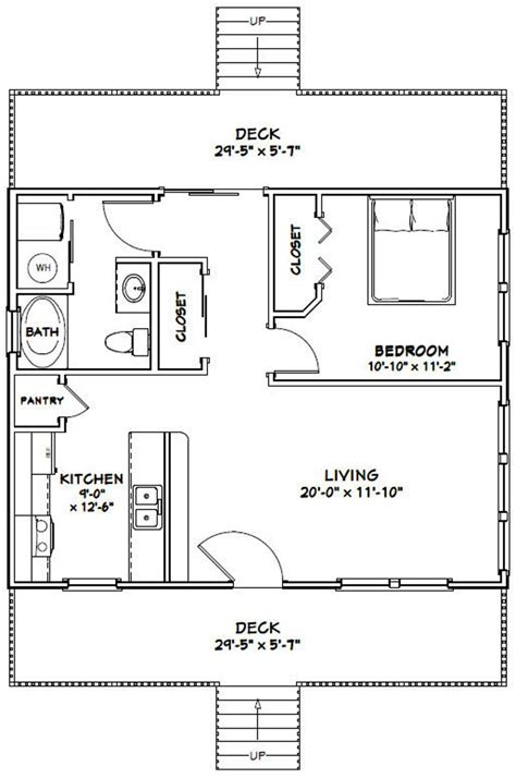 2-Bed-One-Bath-House-Plans