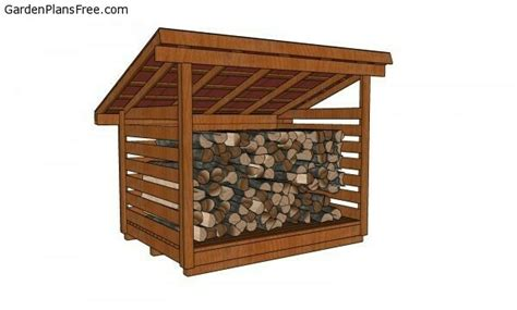 2-Cord-Firewood-Shed-Plans