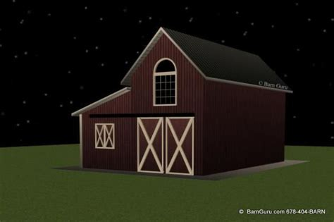 2-Stall-Shed-Row-Barn-Plans