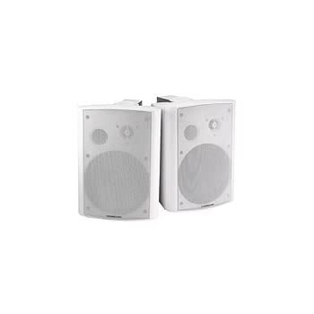 2-Way Active Wall Mount Speakers (Pair) - 20W - White [Personal Computers]