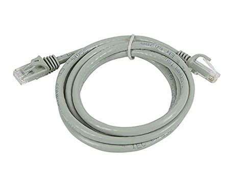 20 Feet Mini Cat6 Molded 28AWG W/Boots Gray 5 Pack