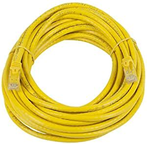 20 Feet Mini Cat6 Molded 28AWG W/Boots Yellow 5 Pack