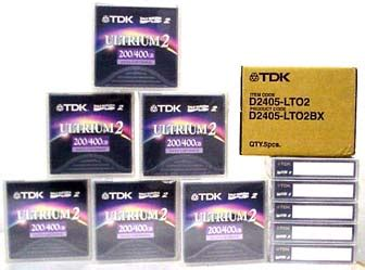 20 Pack TDK D2405-LTO2 LTO2 Ultrium2 Media 200/400GB