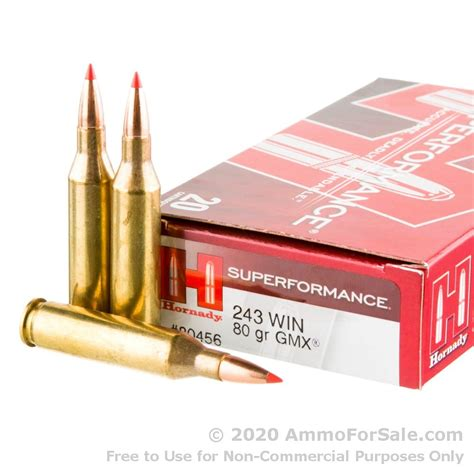 20 Rounds Of Bulk 243 Win Ammo By Hornady 80gr Gmx And Spikes Tactical Cheaper Than Dirt