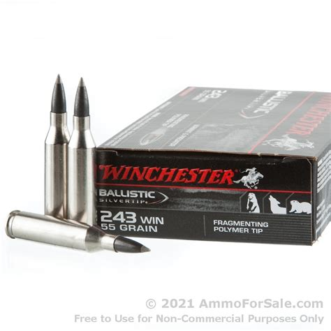 20 Rounds Of 55gr Polymer Tipped 243 Win Ammo By