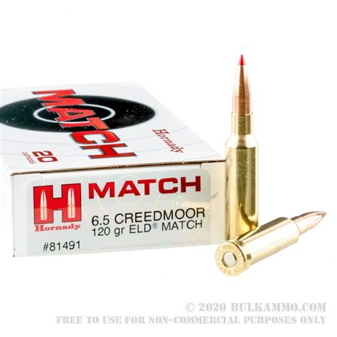 20 Rounds Of 6 5 Creedmoor Ammo By Hornady 120gr Eld Match