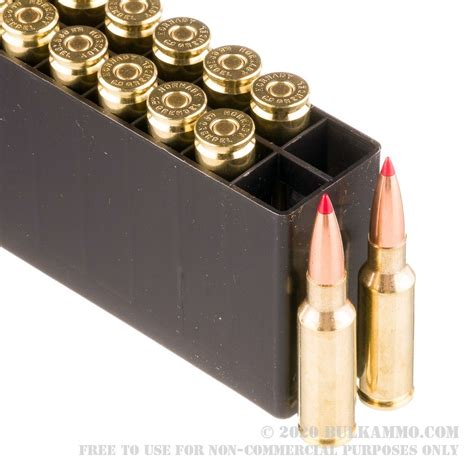 20 Rounds Of 6 5mm Grendel Ammo By Hornady Black 123gr