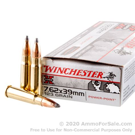 20 Rounds Of 7 62x39mm Ammo By Winchester Super-X - 123gr SP