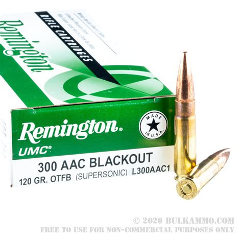 20 Rounds Of Bulk 300 Aac Blackout Ammo By Remington