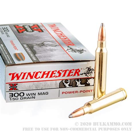 20 Rounds Of Bulk 300 Win Mag Ammo By Winchester Super-X