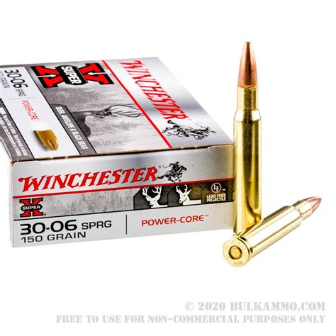 20 Rounds Of Bulk 3006 Springfield Ammo By Winchester