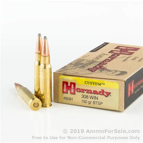 20 Rounds Of Bulk 308 Win Ammo By Hornady - 150gr SP