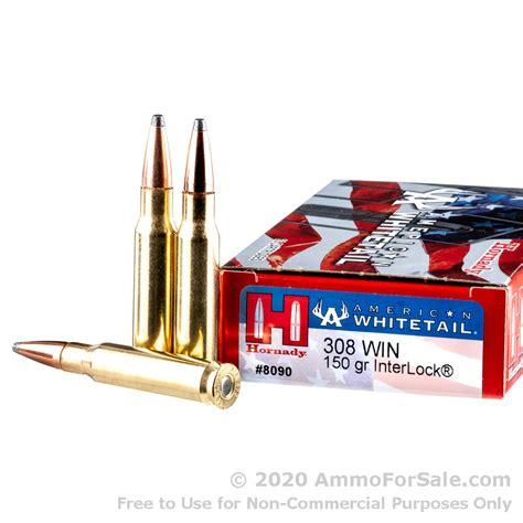 20 Rounds Of Bulk 308 Win Ammo By Hornady 150gr Sp
