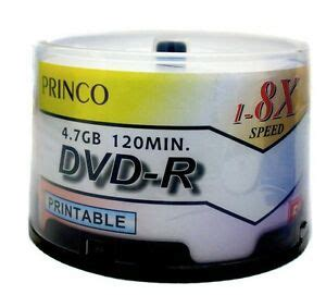 200 Princo 8X DVD-R 4.7GB White Inkjet