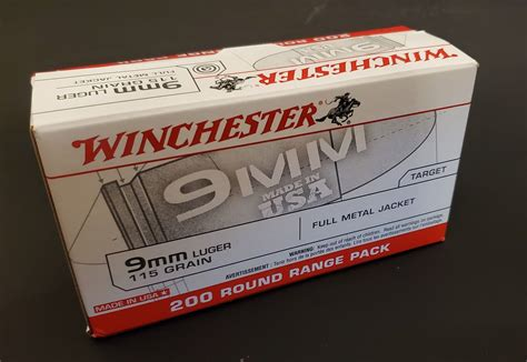 200 Rounds 9mm Winchester