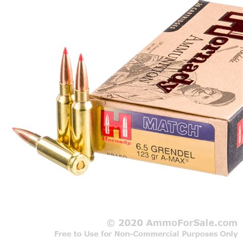 200 Rounds Of 6 5mm Grendel Ammo By Hornady Black - 123gr ELD